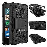 Für Microsoft Lumia 550 Hülle ZeWoo® Heavy Duty Case Cover Outdoor Sport Tasche Shockproof Schutzhülle Gürtel-Clip Ständer - HH002 / Schwarz