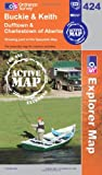 Buckie and Keith (OS Explorer Map Active)