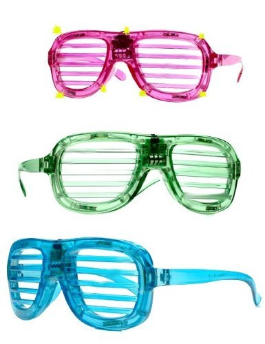 UBK LED - Shutter Shade. Atzenbrille mit Beleuchtung. 6 LEDS