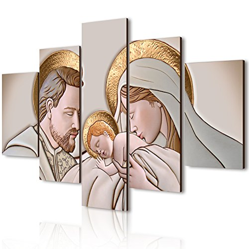 Lupia vogue quadro su legno 5 pezzi the kiss ceramic 66x115 cm