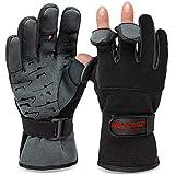 Angelhandschuhe Fishing Gloves Neopren Handschuhe Angeln Schwarz/Grau M