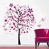 Dibujos animados Árboles Mariposas Diy Pegatinas de Pared, ividz Árboles extraíble pegatinas de pared papel...
