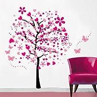 Dibujos animados Árboles Mariposas Diy Pegatinas de Pared, ividz Árboles extraíble pegatinas de pared papel pintado pegatinas de pared decoración del hogar salón dormitorio habitación Niñas, para la habitación del bebé, Creative Art Deco