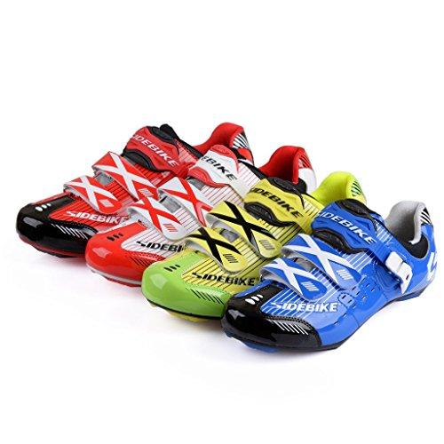 Chaussures vélo de route Homme et Femme chaussure de cyclisme SD002 Jaune - Noir