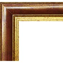 Marco Charleston 92 x 44 cm madera maciza, marci pomposo de alta calidad 44 x 92 cm, color seleccionado: oro rojo con vidrio acrílico antirreflector 1 mm