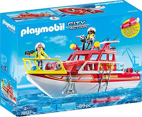 Playmobil 70147 City Action Bateau à feu Multicolore
