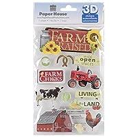 Paper House Productions Farm Raised 3D Stickers