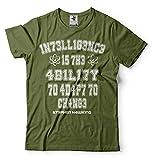 Silk Road Tees Stephen Hawking Inteligencia Camiseta Ciencia Camiseta de los Hombres Camiseta Profesor Hawking Medium Verde Militar