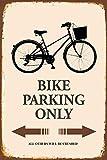 Bike fahrrad Parking only park schild tin sign schild aus blech garage