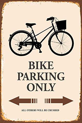Bike fahrrad Parking only park schild tin sign schild aus blech garage (Fahrrad Schild)