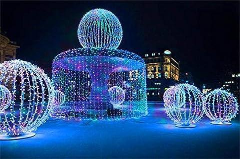 ZEARO 50 Mètres 220V 8 Modes de Fonctionnement 300 Guirlandes LED Lumières de Décoration en Coloré pour Mariage Fête Noël