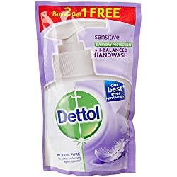 Dettol Liquid Handwash - 175 ml (Sensitive, Buy 2 Get 1 Free)
