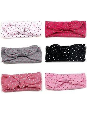 Jmitha 6 Stück Baby Stirnbänder verknotete Baby Stirnband Baby Top Knot, Baby Turban, Mädchen Headwrap Knot Stirnband...