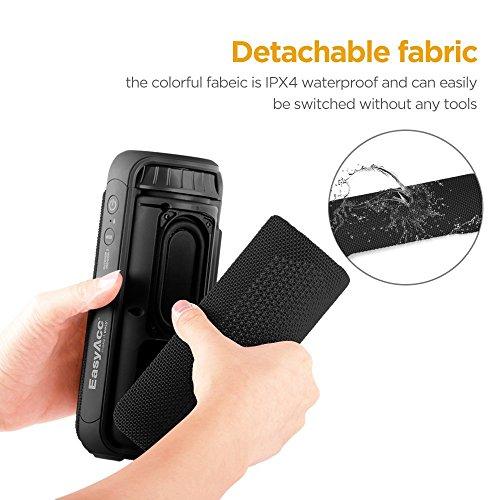 EasyAcc SoundCup 20W Treiber Bluetooth 4.1 Spritzwassergeschützter tragbarer Lautsprecher Subwoofer mit großartigen Höhen und Superbass, mit Aussen- und Innenmodus, empfindliches Touch-Panel, Schwarz - 2