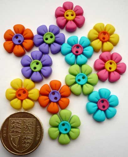 Jesse James Buttons (Jesse James Sew Cute Button Flowers-Novelty Craft Buttons & Embellishments by Dress it up by)