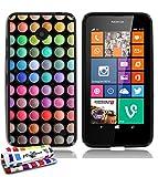 """Muzzano Le Glossy-Custodia morbida, motivo """"Make Up, con pennino e panno di pulizia, per Nokia Lumia 635"""