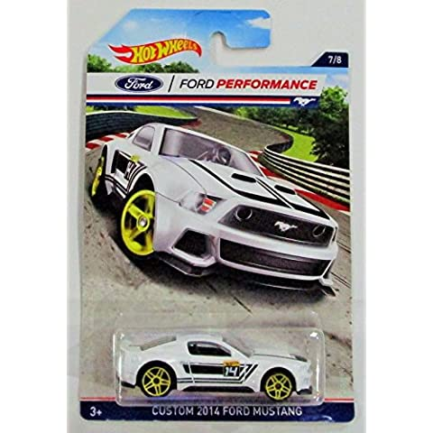 HOT WHEELS FORD PERFORMANCE WHITE CUSTOM 2014 FORD MUSTANG 7/8 by Hot Wheels