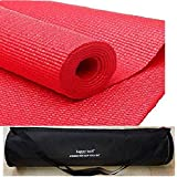 happy tech Yoga Mat with Bag, 6mm (red) with Bag