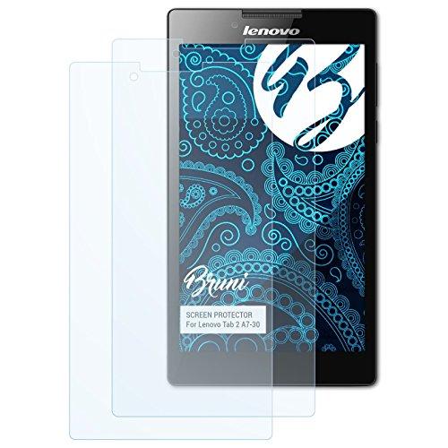 Bruni Schutzfolie für Lenovo Tab 2 A7-30 Folie, glasklare Bildschirmschutzfolie (2X)