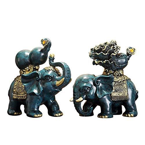 Gleecare Decoracion,Adornos de elefante adornos Feng Shui regalo suerte apertura oficina gabinete...
