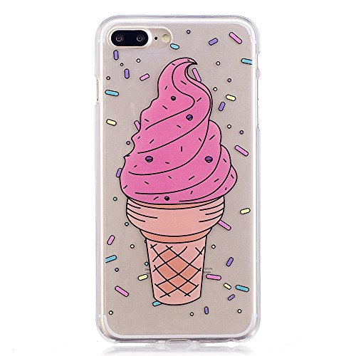 iPhone 7plus Fall, xinyiyi stoßfest Soft Shell Langlebig kratzfest iphone 7plus TPU Schutzhülle ice cream