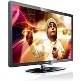 Philips 32PFL6606K/02 81 cm (32 Zoll) LED-Backlight-Fernseher  (Full-HD, 400 Hz PMR, DVB-T/-C/-S2, Smart TV) dunkel gebÃ1/4rstetes Silber