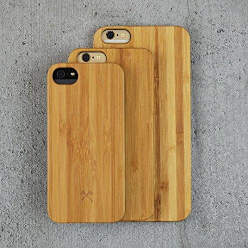 Woodcessories - EcoCase Classic - Design Custodia, Case, Cover, Protezione per liPhone 7, 8 Plus di legno naturale, legno certificato FSC di ciliegio bambù