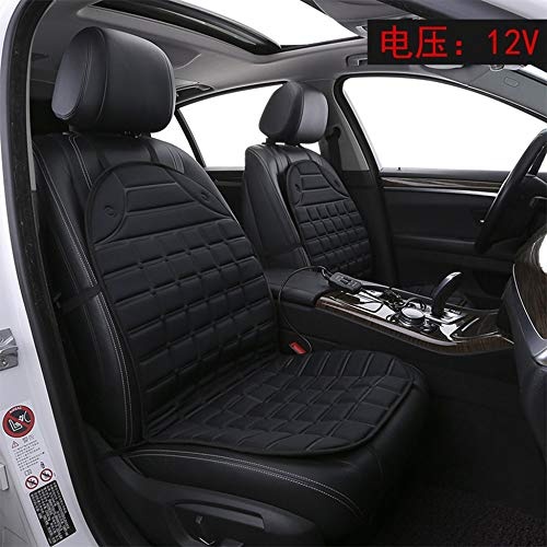 Auto e Moto Auto sedile riscaldato 12V riscaldabile Coprisedile Termoforo Piastra riscaldante auto nero