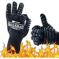 SANLINKEE - Guantes de Cocina para Barbacoa – 932 °F Extremadamente Resistentes al Calor – Protección de Mano de Alta Temperatura para Hornear, cocinar, Soldadura, Calor y Llama
