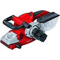 Einhell TE-BS 8540 E - Lijadora de banda, mango auxiliar regulable, 830 W, 230 V, color rojo y negro