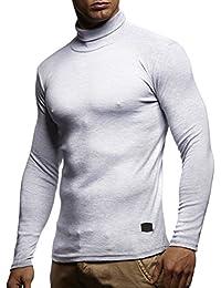 Herren Rollkragenpullover Pullover Rollkragen Hoodie T-Shirt Slim Fit; Größe XL, Grau