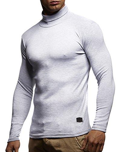 Herren Rollkragenpullover Pullover Rollkragen Hoodie T-Shirt Slim Fit; Größe XL, Grau (Männer Pullover Shirt)