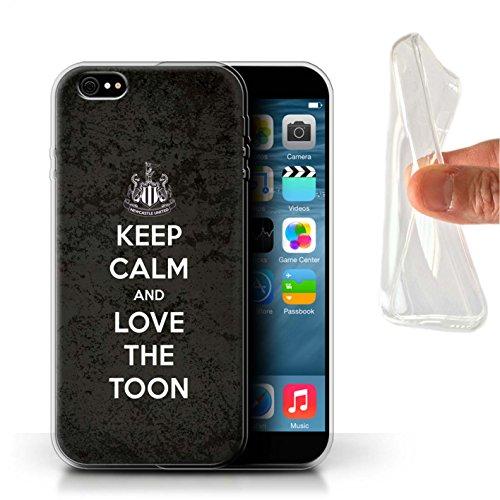 Officiel Newcastle United FC Coque / Etui Gel TPU pour Apple iPhone 6S+/Plus / Pack 7pcs Design / NUFC Keep Calm Collection Amour Toon