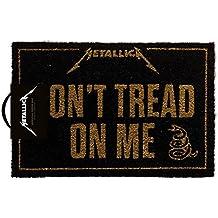 Pyramid Felpudo Metallica, con mensaje en inglés «Don 't Tread On Me», multicolor, 40x 60cm
