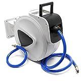 Wiltec Druckluft Schlauchtrommel mit 20m Druckluftschlauch Automatik Schlauchaufroller