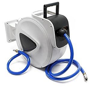 Tambor manguera aire comprimido rodillo carrete automático 20m enrollador compresor aire presión
