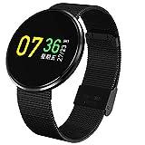AIBOTY CF006H Farbbildschirm Blutdruck Herzfrequenz Wasserdichte Mode Stahlband Bluetooth Schrittzähler Sport Smart Armband