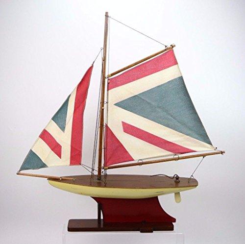 Nautica Jack (Segeln Union Jack Pound Boot Marine-Mockup Naútica Modellieren Holz)