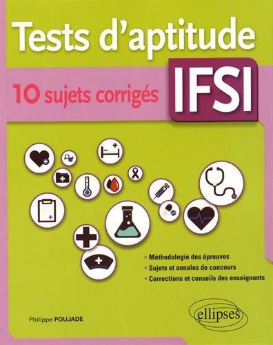 Tests d'Aptitude IFSI 10 Sujets Corrigés