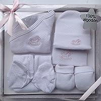 Set de regalo bebé racido niña,5 piezas ,100% algodón, HC Enterprise p.r
