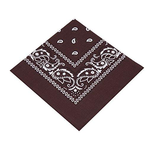 Boolavard Bandana Kopftuch Halstuch - gemustert: Paisley Muster - 100% Baumwolle! (Braun) (Paisley Braun)