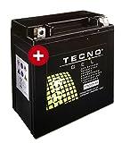 TECNO-GEL Motorrad-Batterie YTX20CH-BS für Kawasaki, Moto Guzzi, Suzuki etc, 12V Gel-Batterie 18AH, 150x87x161 mm