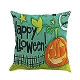 VEMOW New Fashion Halloween Dekoration 4 STÜCK Home Auto Bett Sofa Dekorative Brief Kissenbezug Kissenbezug 45 * 45cm(Mehrfarbig D, 45 * 45cm)