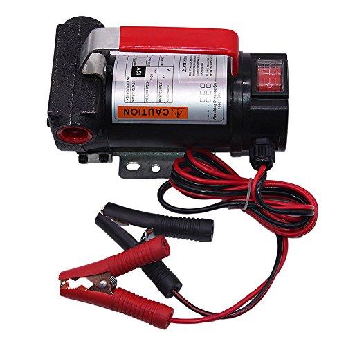 OUKANING 40L/min 12V Dieselpumpe Heizölpumpe Ölabsaugpumpe Kraftstoffpumpe Ölpumpe