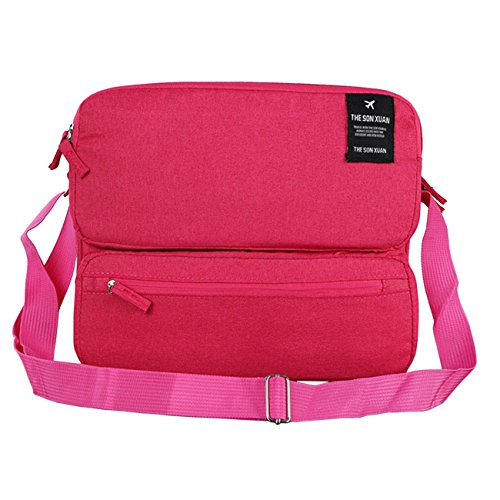 THEE Multifunktion Reise Satchel Multi Layered Businesstasche rosa rot