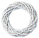 Natur Weidenkranz - Kranz - 30cm Weiß - Türkranz -