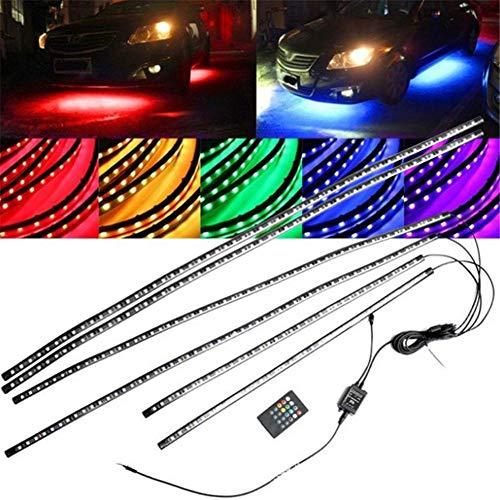 Striscia LED per illuminazione sottosuolo, 12 V, 8 colori, illuminazione interna con funzione Sound Active e telecomando, impermeabile IP68, per interni ed esterni b
