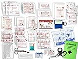 Komplett-Set Erste-Hilfe DIN 13169 EN 13 169 PLUS 1 für Betriebe mit Notfallbeatmungshilfe & Verbandbuch incl.Alkoholtupfer + Pinzette