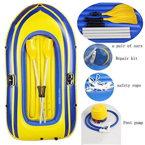 ZOUBIAG PVC-Kajak, 2-Personen-Boot Gummiboot Verdickt Schlauchboot (Color : Kelly, Size : A)