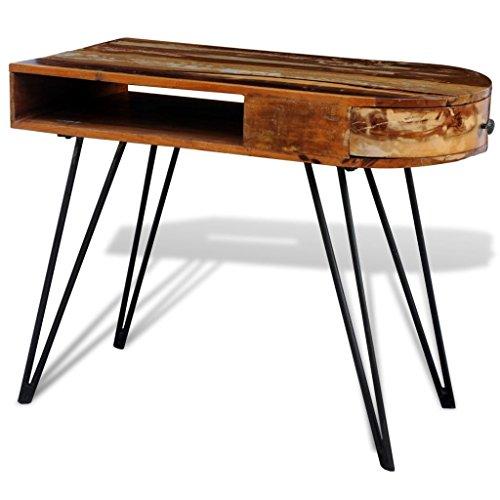 GoodWork4UEu Holztisch mit Stahlbeinen recyceltes Holz Möbel Büromöbel Schreibtische
